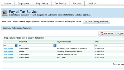 Tax Service Screenshot